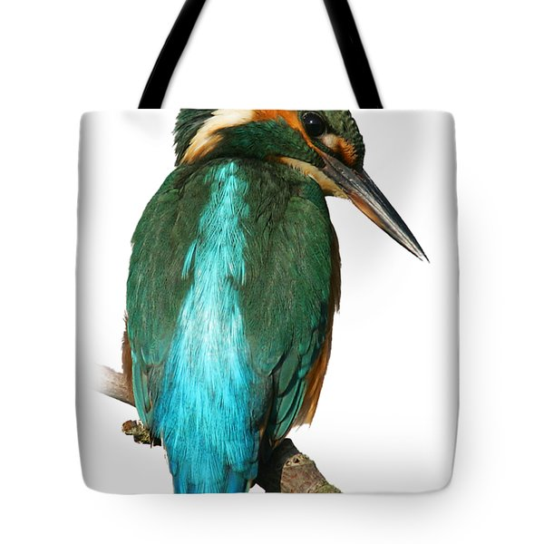 The Watchful Kingfisher T-shirt Tote Bag