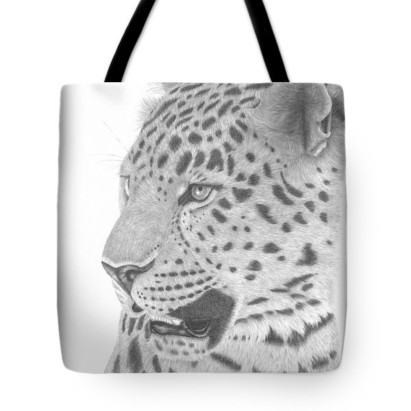 The Watchful Leopard Tote Bag by Patricia Hiltz