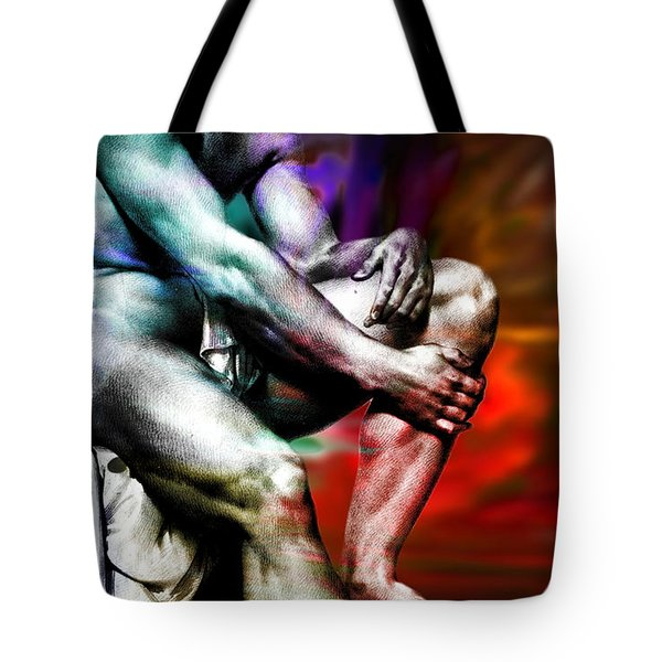 The Watching Man   Tote Bag by Mark Ashkenazi