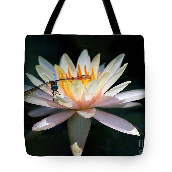 The Water Lily And The Dragonfly Tote Bag by Sabrina L Ryan