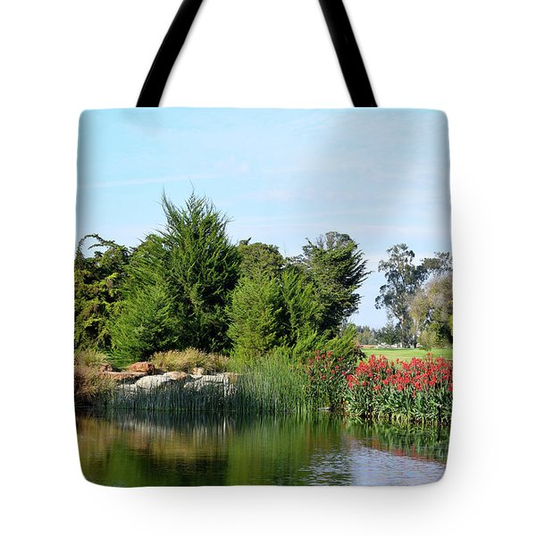 Tote Bag featuring the photograph The Water On Number One Santa Maria Country Club by Barbara Snyder