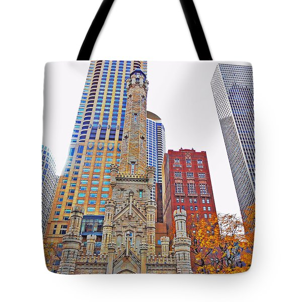 The Water Tower In Autumn Tote Bag