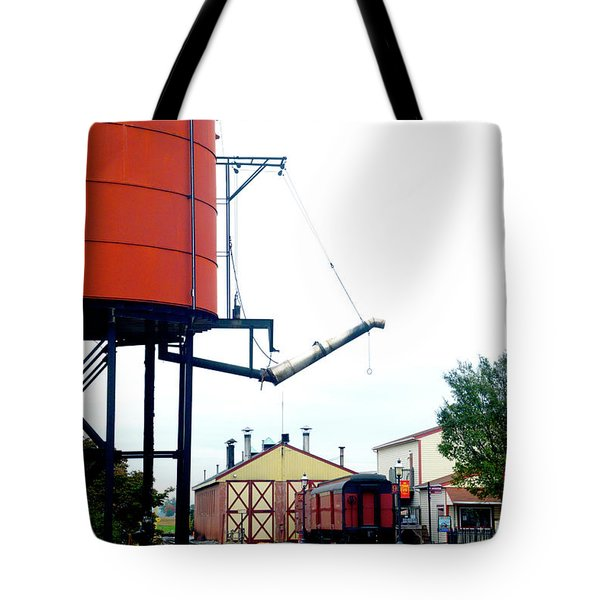 Tote Bag featuring the photograph The Water Tower by Paul W Faust - Impressions of Light