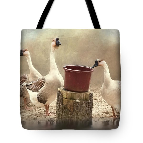 Tote Bag featuring the photograph The Watering Hole by Robin-Lee Vieira