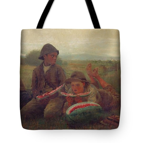 The Watermelon Boys Tote Bag by Winslow Homer