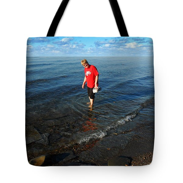 Tote Bag featuring the photograph The Water's Fine by Lena Wilhite