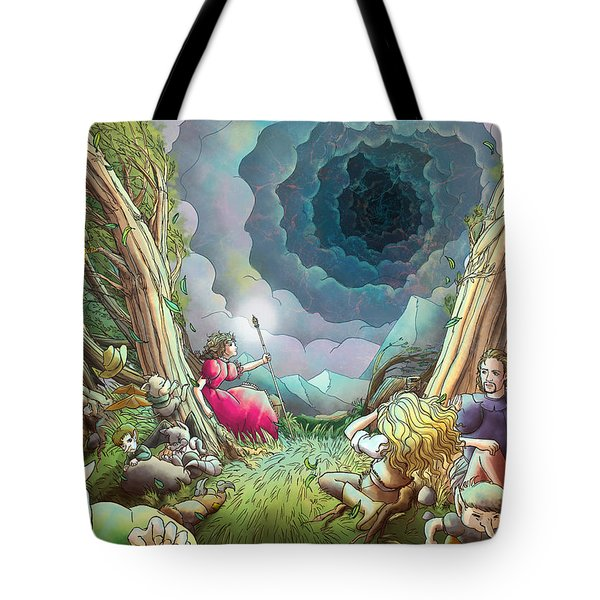 The Wave Of Space And Time Tote Bag