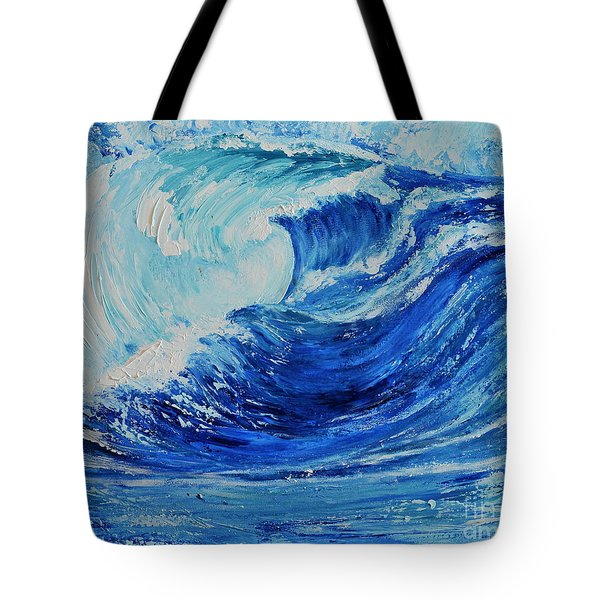 The Wave Tote Bag by Teresa Wegrzyn