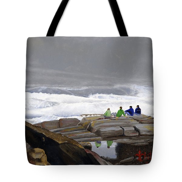 The Wave Watchers Tote Bag