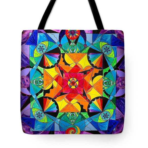 The Way - Arcturian Blue Ray Grid Tote Bag