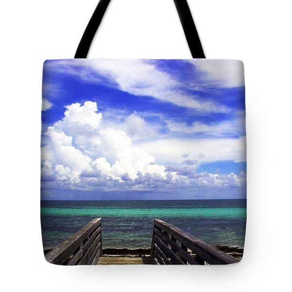 The Way To The Beach 2 Tote Bag by Susanne Van Hulst