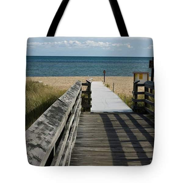 Tote Bag featuring the photograph The Way To The Beach by Tara Lynn
