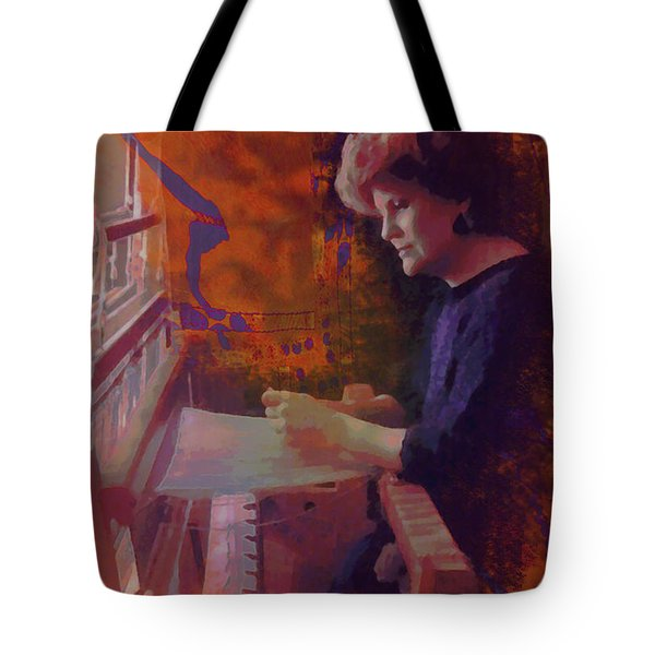 Tote Bag featuring the photograph The Weaver by Kate Word