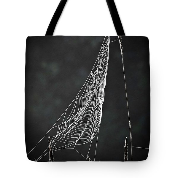 Tote Bag featuring the photograph The Web by Tom Cameron