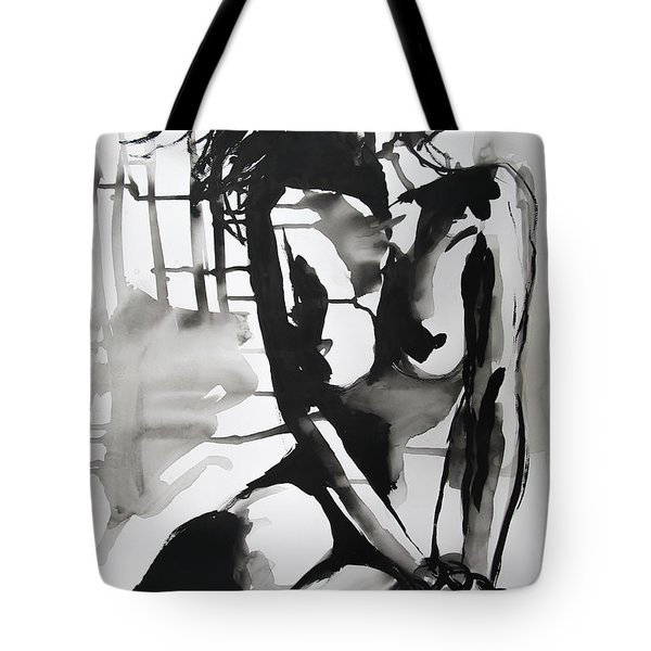 Tote Bag featuring the painting The Weight by Jarko Aka Lui Grande