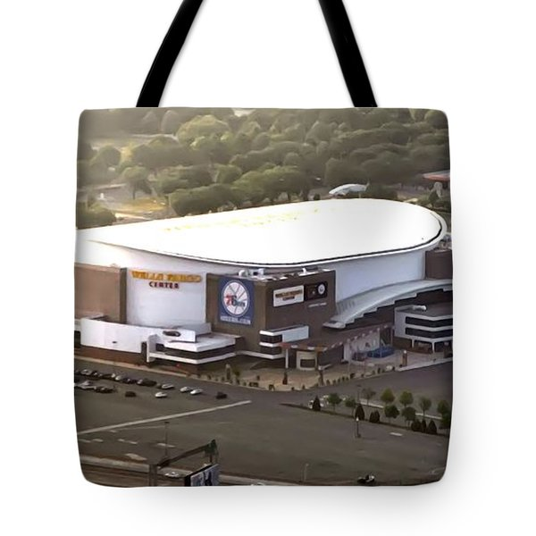 The Wells Fargo Center Tote Bag by Bill Cannon