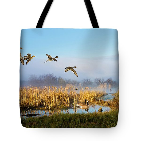 The Wetlands Crop Tote Bag