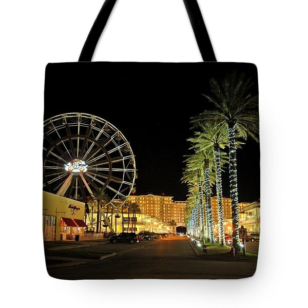 The Wharf At Night  Tote Bag by Michael Thomas