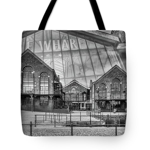 The Wharf Cardiff Bay Mono Tote Bag