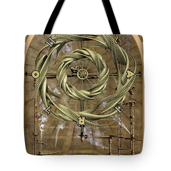 The Wheel Of Fortune Tote Bag by John Edwards