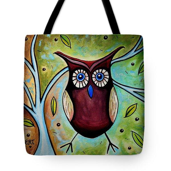 The Whimsical Owl Tote Bag