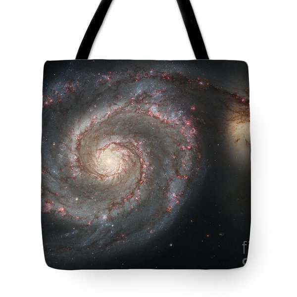 The Whirlpool Galaxy M51 And Companion Tote Bag by Stocktrek Images
