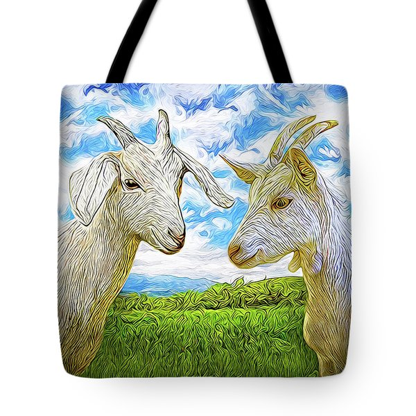 The Whispers Of Goats Tote Bag by Joel Bruce Wallach
