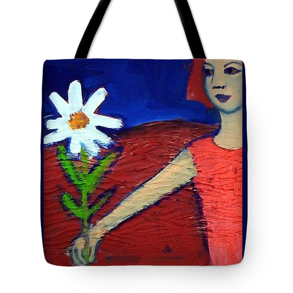 The White Flower Tote Bag by Winsome Gunning
