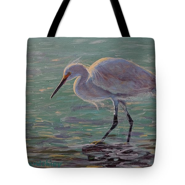 The White Heron Tote Bag