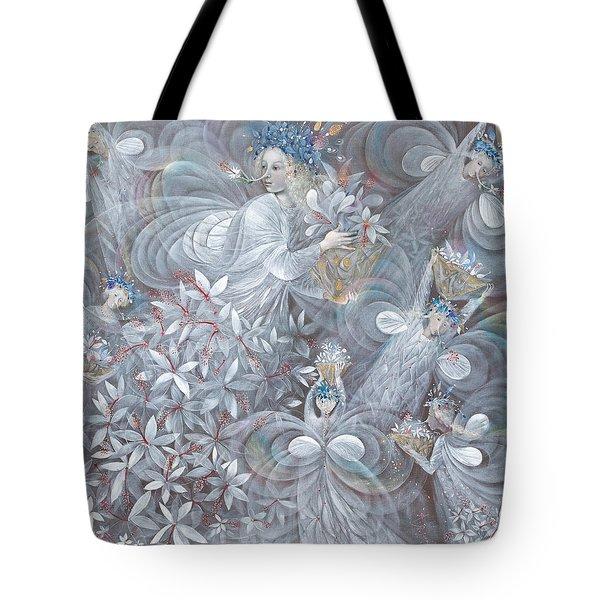 The White Hibiscus Tote Bag
