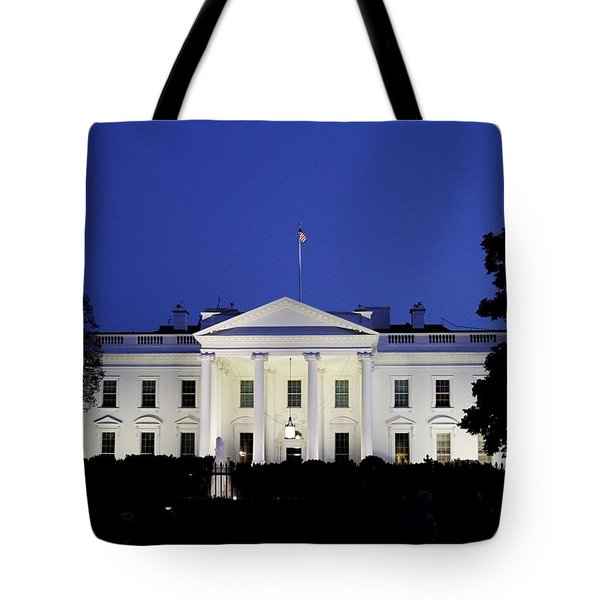 The White House At Night Tote Bag