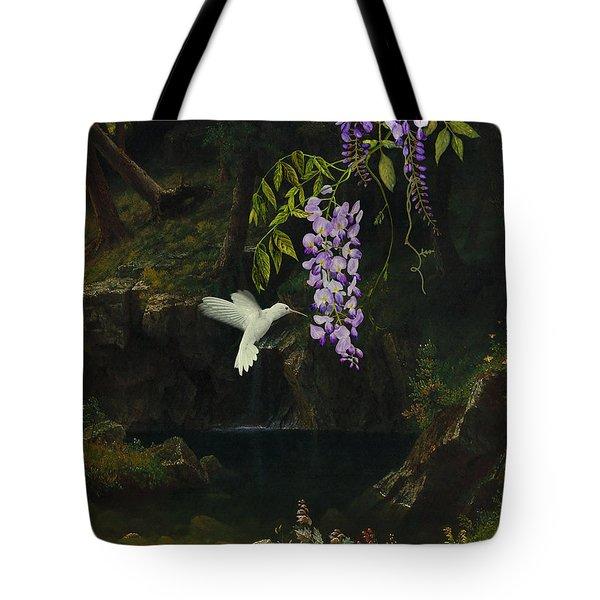 The White Hummingbird Tote Bag