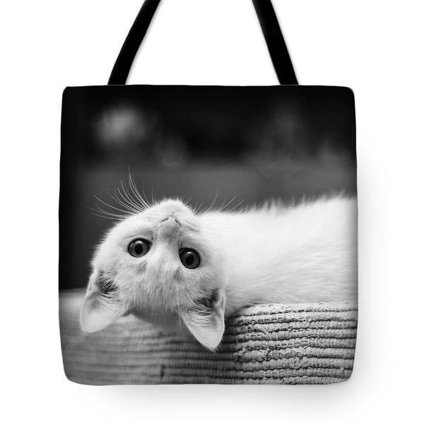 The White Kitten Tote Bag