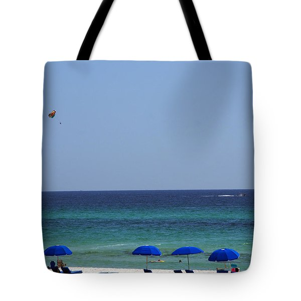 The White Panama City Beach - Before The Oil Spill Tote Bag by Susanne Van Hulst