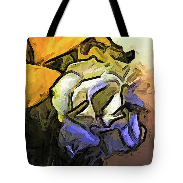The White Rose And The Yellow Petals Tote Bag