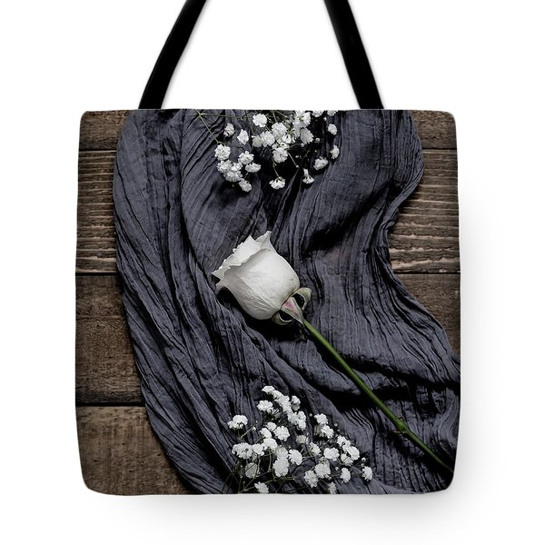Tote Bag featuring the photograph The White Rose by Kim Hojnacki