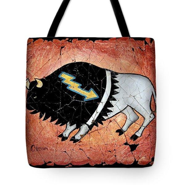 The White Sacred Buffalo Fresco Tote Bag