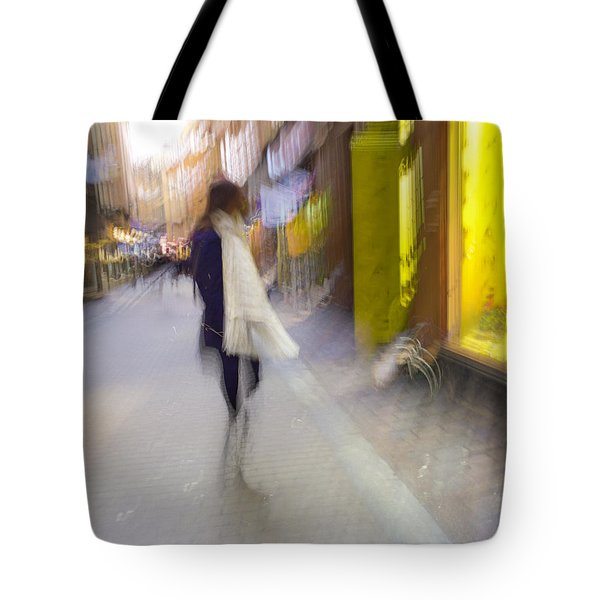 The White Scarf Tote Bag