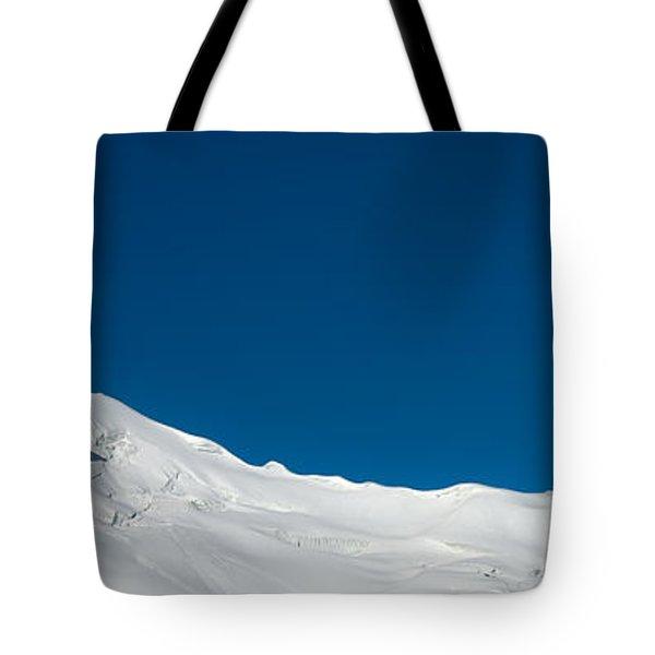 The White Summit Tote Bag by Konstantin Dikovsky