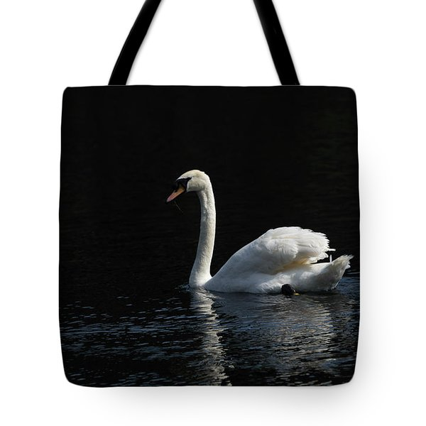 The White Swan Tote Bag by David  Hollingworth