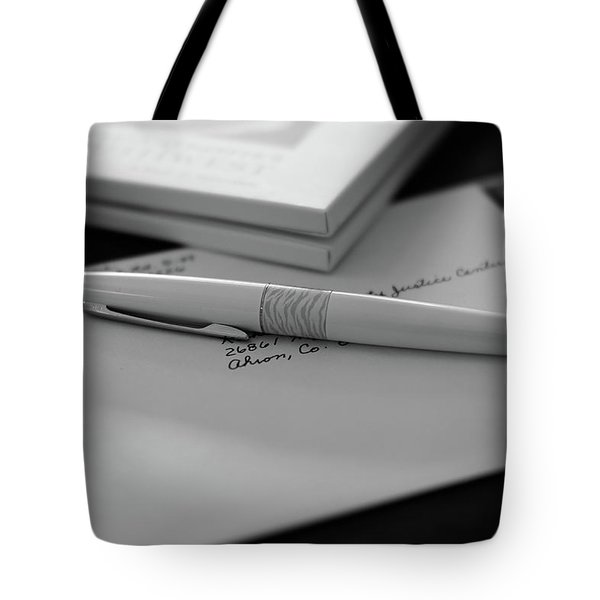 Tote Bag featuring the photograph The White Tiger by Monte Stevens