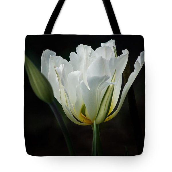 The White Tulip Tote Bag