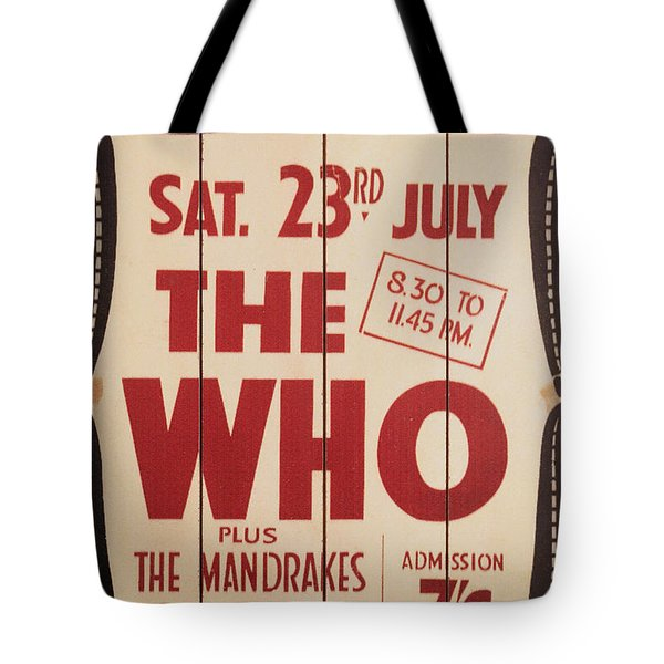 The Who 1966 Tour Poster Tote Bag
