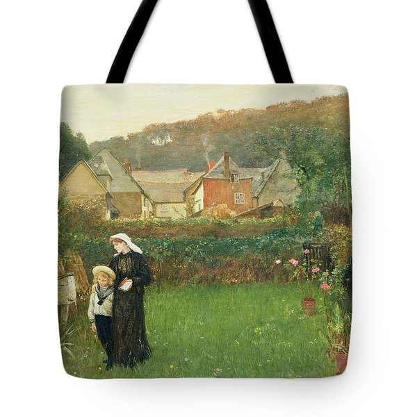 The Widow Tote Bag by Charles Napier Hemy