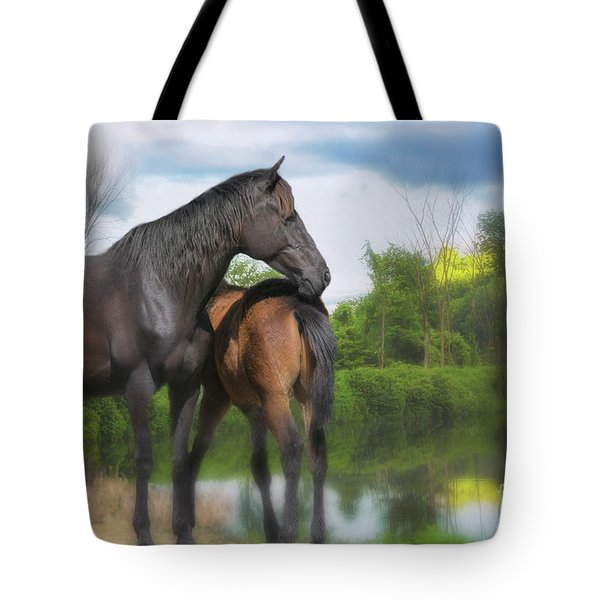 The Wild Horses Of La Chura Trail Tote Bag