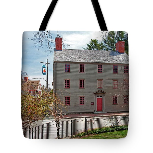 Tote Bag featuring the photograph The William Pitt Tavern by Wayne Marshall Chase