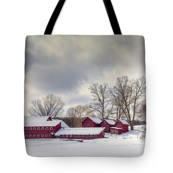 Tote Bag featuring the photograph The Williams Farm by Susan Cole Kelly