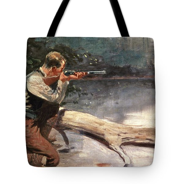 The Winchester Tote Bag by Frederic Remington