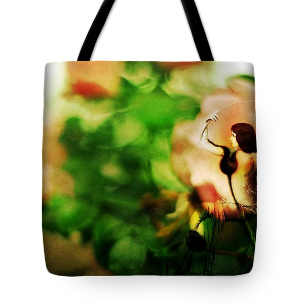 The Wind Around Her Shoulders Tote Bag by Rebecca Sherman