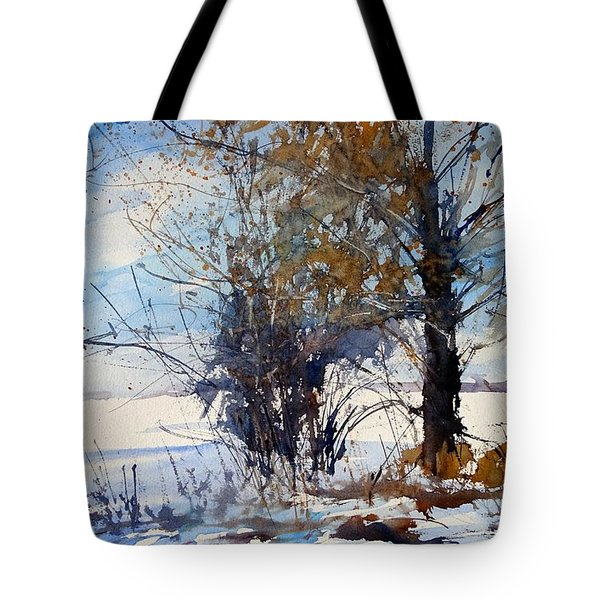 The Wind Break On 108th Tote Bag